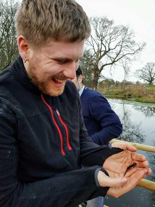 Luke and smooth newt female 2