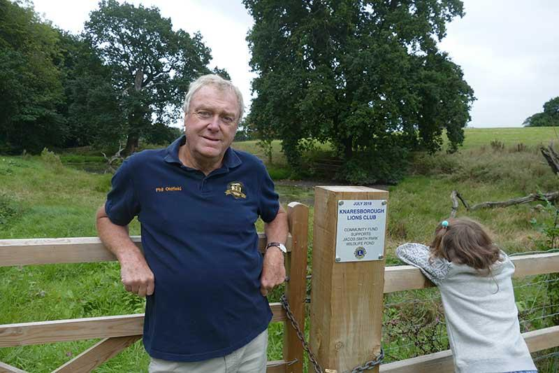 Phil Oldfield and the plaque